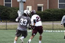 Matt Auletti (left), seen here playing lacrosse his sophomore year, makes his return to the sport after an injury