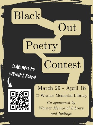 Finding the Words: A look at Eastern University's black- out poetry contest.
