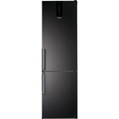 Hotpoint H7T911TKSH1 368L Freestanding Fridge Freezer – Black/Inox