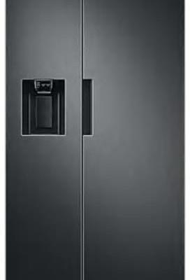 SAMSUNG RS67A8810B1/EU American-Style Fridge Freezer, Black Stainless Steel