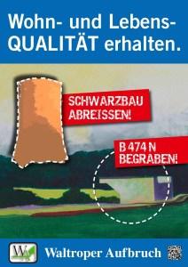 Wahlplakat 2014 schwarzbau