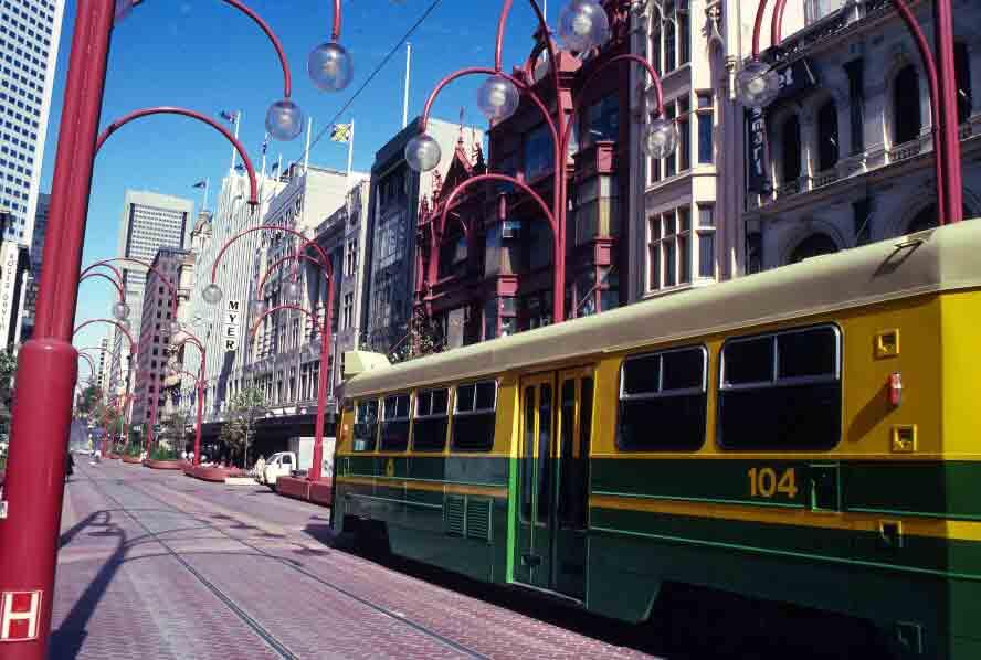 Tram in Bourke Street