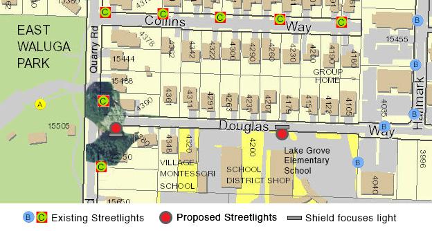 Proposed Streetlights on Douglas Way