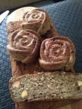 Queque vegano de platano, quinoa y nueces LIBRE DE TRIGO Queque vegano de pascua libre de trigo