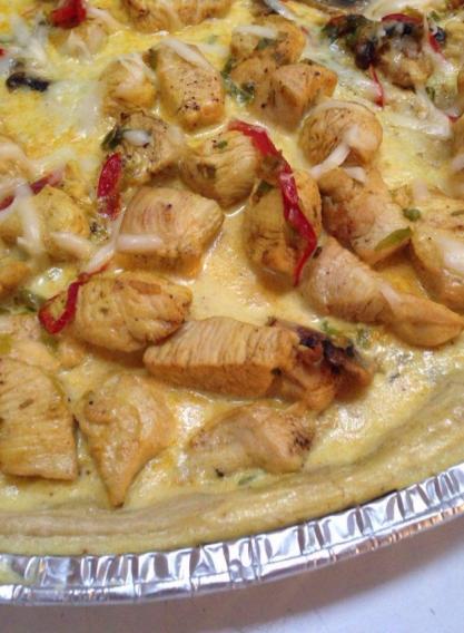 Quiche de pollo y champiñones