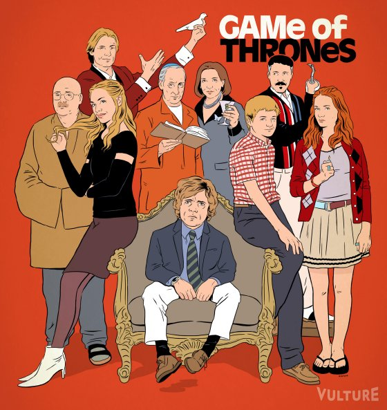 Game of Thrones AD Game of Thrones Reimagined as Other TV Shows