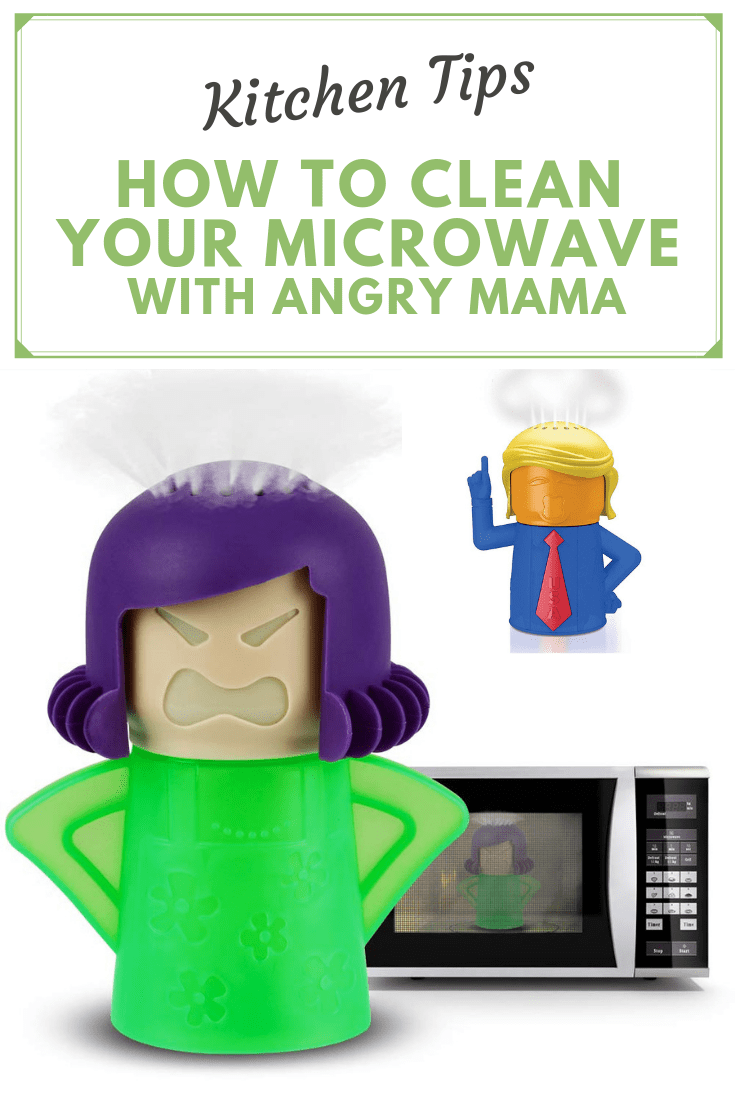 to clean your microwave with angry mama