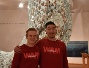 Two WAM Guards in the gallery