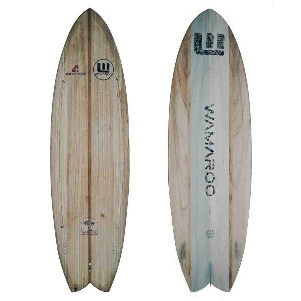kiteboard strapless madera paulonia