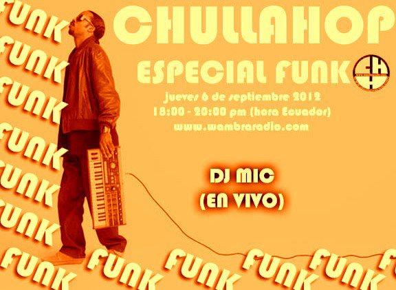 FUNK en la Chulla Hop este jueves