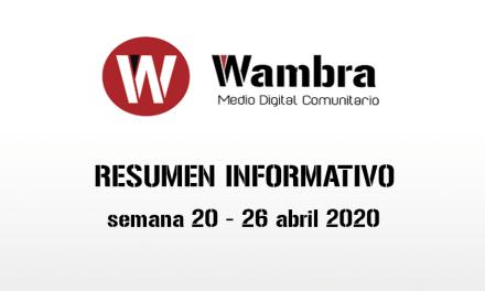 Corona Virus Ecuador – resumen semanal, 20, 26 de abril de 2020