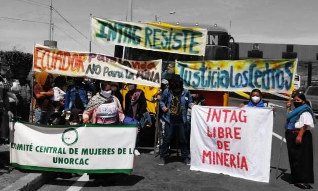 Mujeres en la lucha anti extractivista en medio de la pandemia