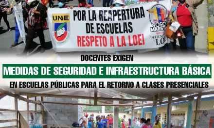 Docentes exigen medidas de seguridad e infraestructura básica en escuelas públicas para el retorno a clases presenciales