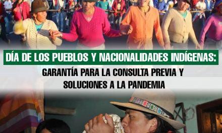 Día de los Pueblos y Nacionalidades Indígenas:  garantía para la Consulta Previa y soluciones a la pandemia