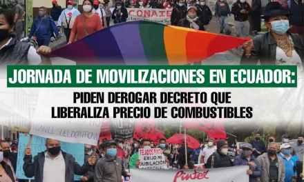 Jornada de movilizaciones en Ecuador: organizaciones insisten en derogar decreto sobre combustibles