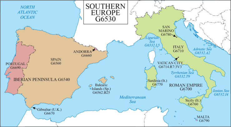 G Schedule 22 Southern Europe