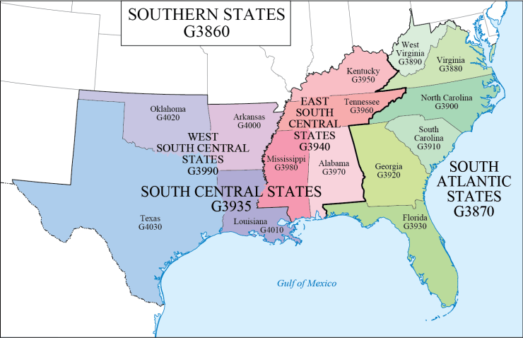G Schedule 8 southern states