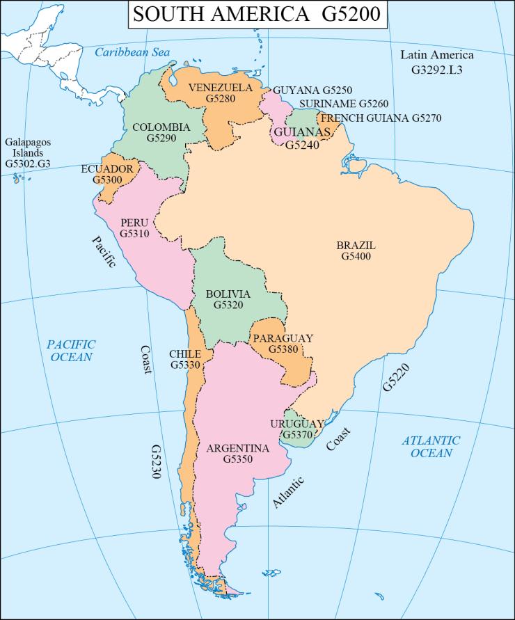 G schedule 15 South America