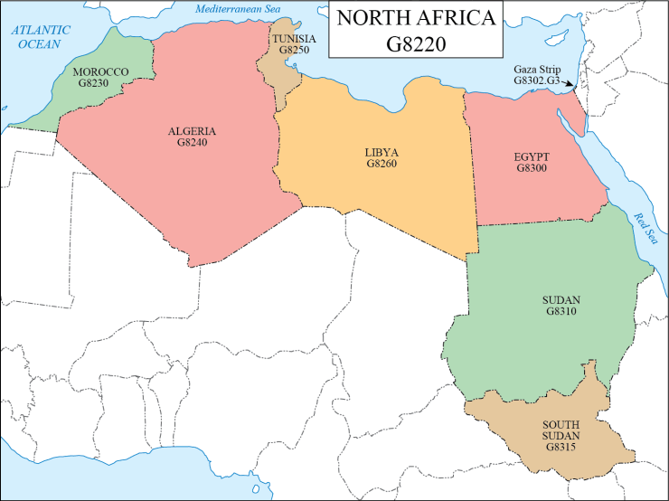 G schedule 34 North Africa