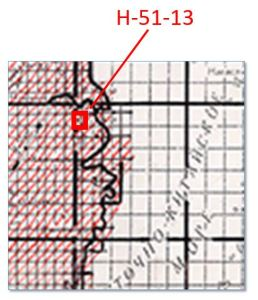 Figure 6: Detail of index map square H-51.