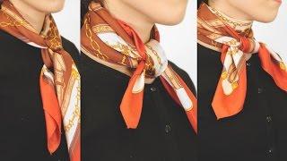 2017トレンドのスカーフを首に!簡単でオシャレな巻き方♡Vol.1