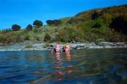MarjorieJackie swim at west wanaka 2011