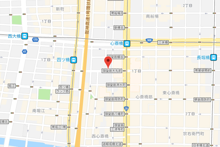 01-hotel-unizo-osaka-shinsaibashi-map