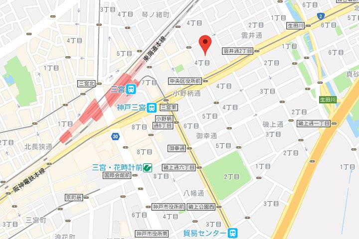 04-comfort-hotel-kobe-map