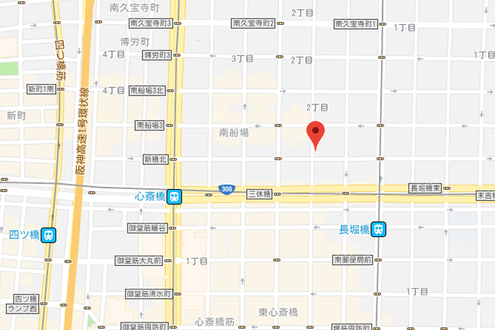 07-rakuten-stay-hostel-art-cafe-bar-osaka-shisaibashi-map