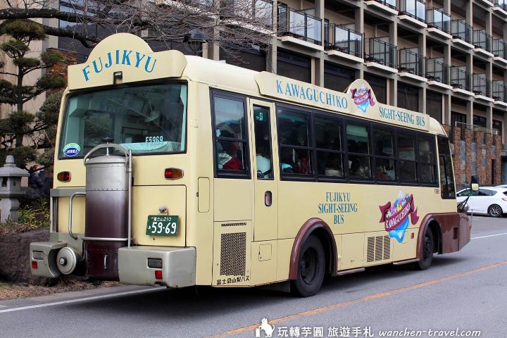 河口湖周遊巴士路線 票價 付款方式 搭乘心得