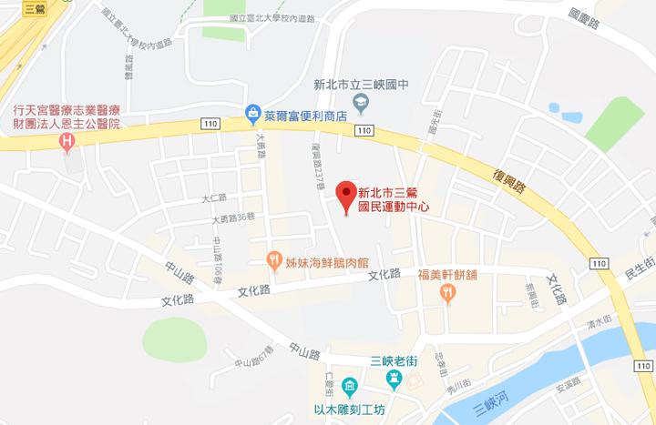 sanxia-sportscenter-map