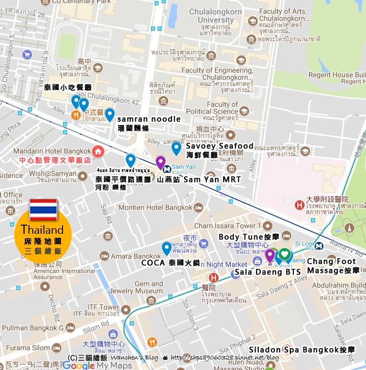Mandarin Hotel Bangkok map