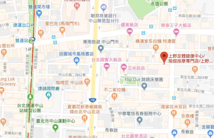 taipei-ueno-massage-day-map