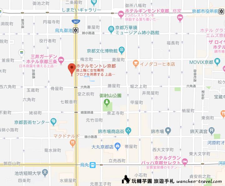 kyoto-hotelmonterey-map