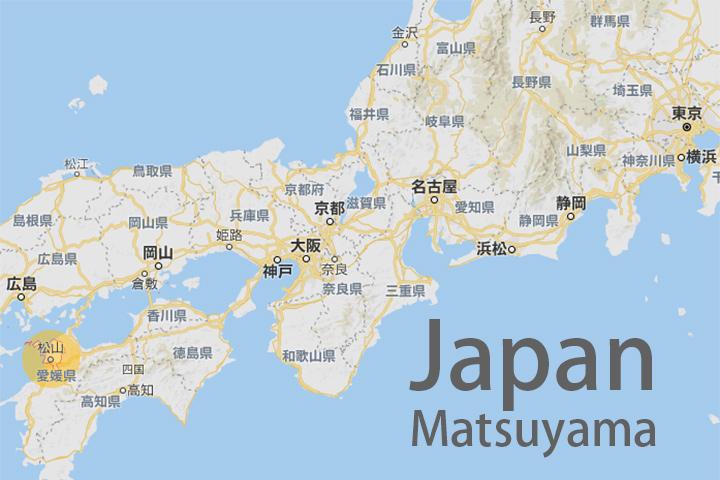 japan-matsuyama-map-point