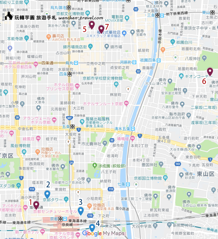 relux-kyoto-hotel-map