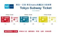 東京一日券 東京metro地鐵24小時車票