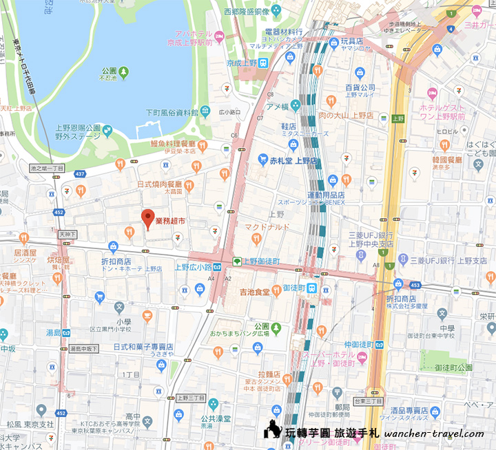 gyomusuper-ueno-map