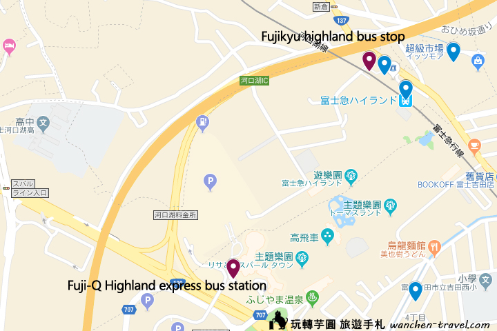 fuji-q-bus-map