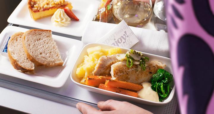 nz premium economy class meal