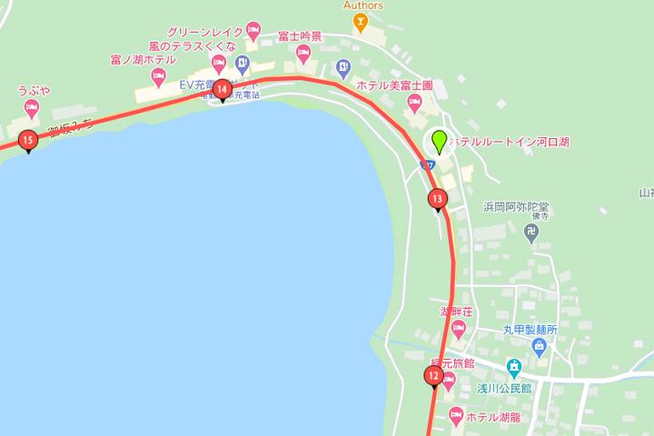 露櫻酒店河口湖店地圖