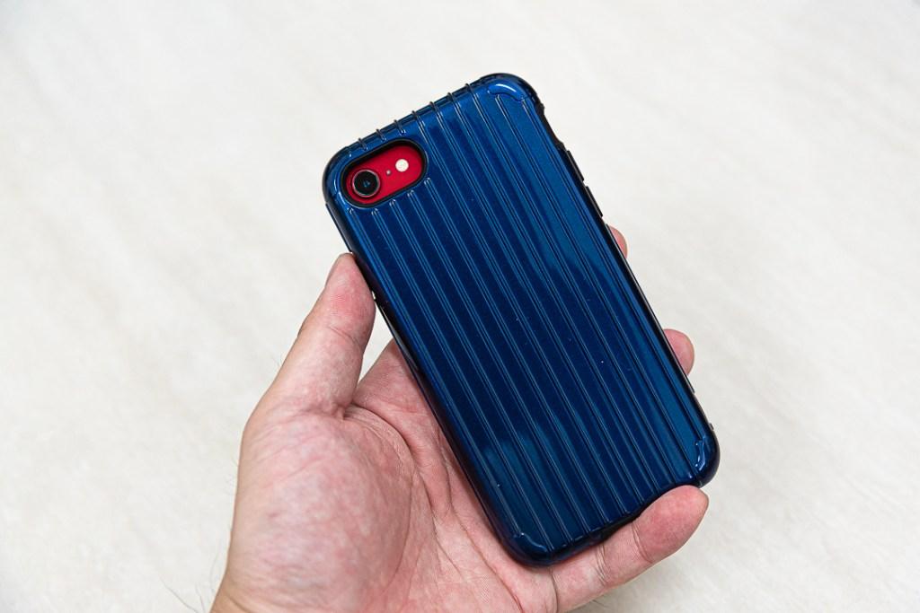 日本東京Gramas 輕巧日系的軍規防護手機殼 藍色