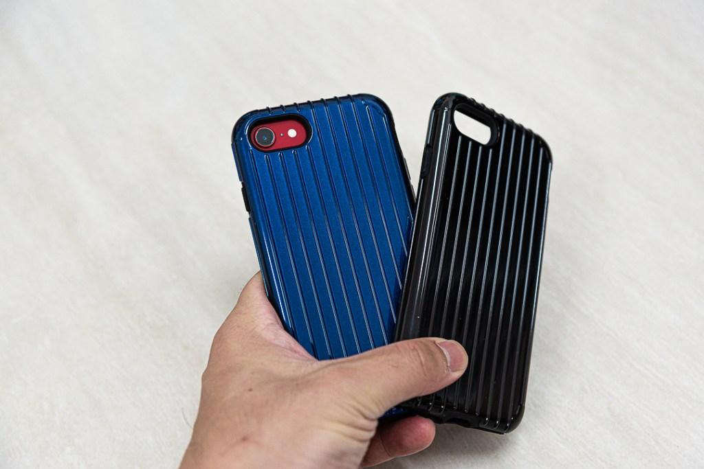 《日本東京Gramas》軍規防摔經典手機殼 藍色與黑色都很美