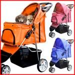 折りたたみ式のペット用バギー ペットとお散歩やお出掛けに便利
