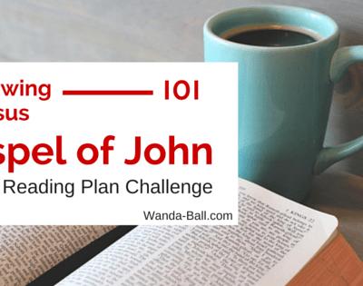 Gospel of John: Bible Reading Plan Challenge Week 1
