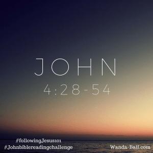 John 4-28-54