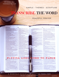Transcribe The Word Persistent Peaceful Prayer