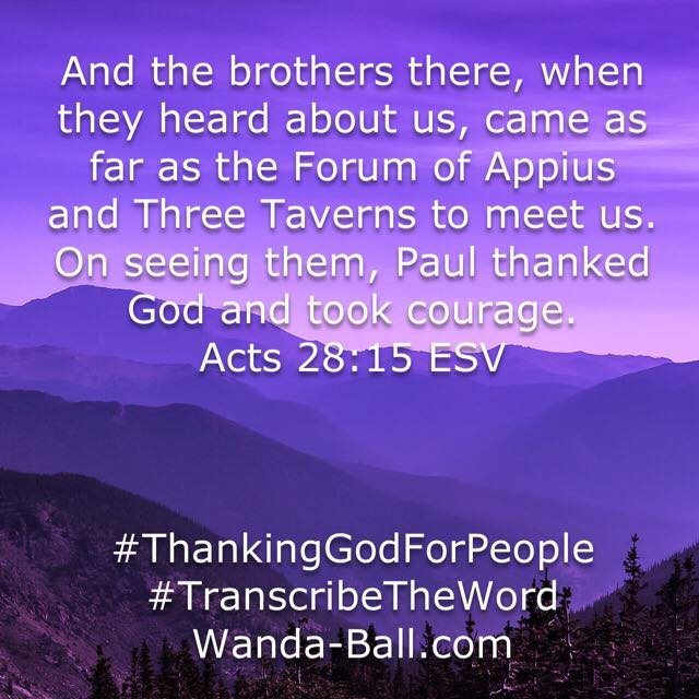 thank god for people acts 28-15