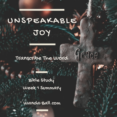 Transcribe The Word: Unspeakable Joy – Bible Study Week 1 Summary