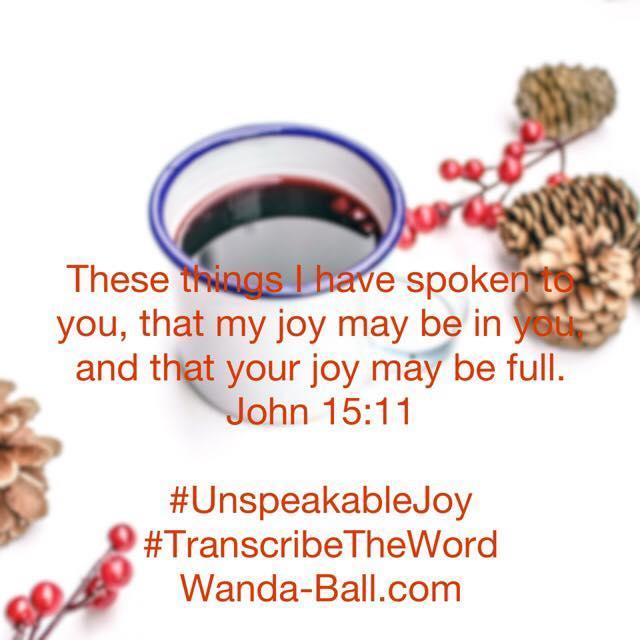 unspeakable joy john 15:11